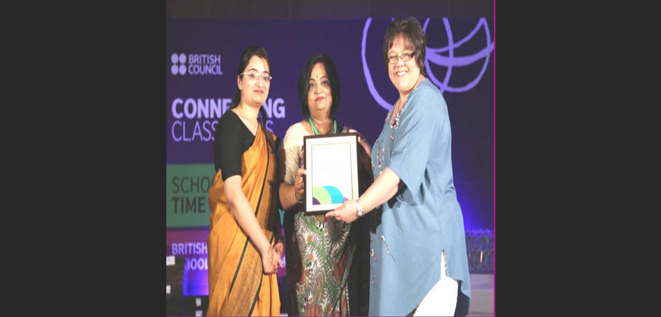 top cbse school in delhi,the image show british counsil international school award